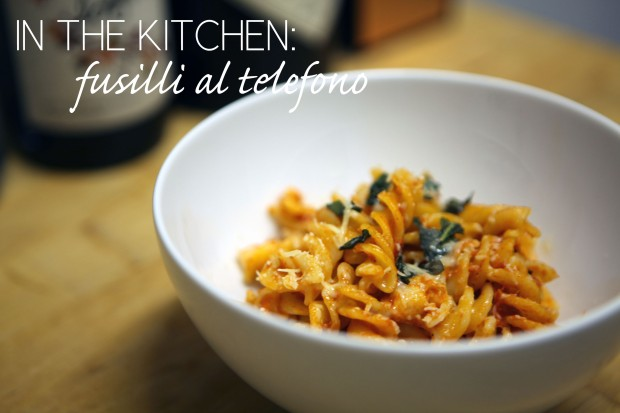In the Kitchen_Fusilli al Telefono